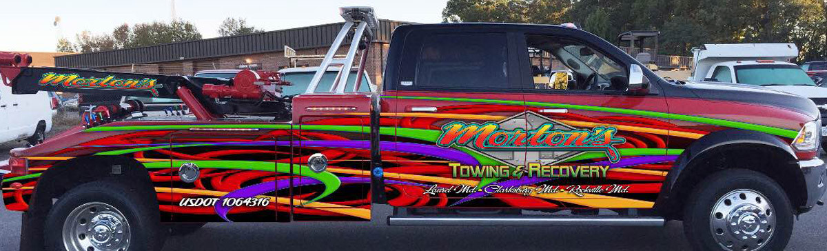 Truck for Mortons Towing and Recovery in Maryland